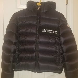 Boy's Moncler puffer jacket with hood